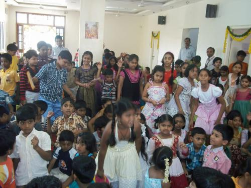 students enjoying the dance session